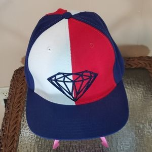Diamond Supply Co Red, White & Blue Adjustable Cap